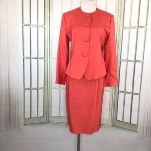 Doncaster Skirt Suit Dupioni Silk Business Suit